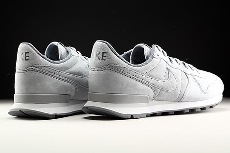 Nike Internationalist Premium Hellgrau Grau Weiss Rueckansicht
