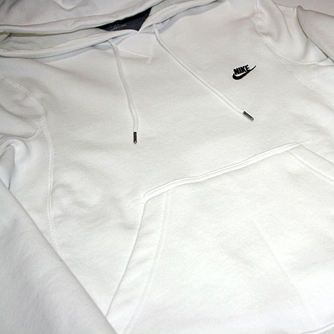 Nike Johnson Hoody Brushed White Profile