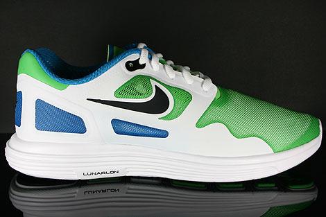 Nike Lunar Flow Hellgruen Schwarz Weiss Blau Seitenansicht