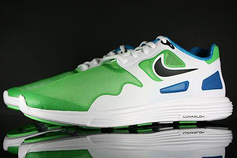Nike Lunar Flow Hellgruen Schwarz Weiss Blau Seitendetail