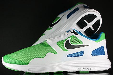 Nike Lunar Flow Hellgruen Schwarz Weiss Blau Rueckansicht