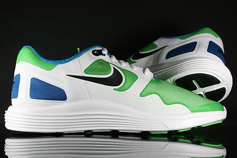 Nike Lunar Flow Hellgruen Schwarz Weiss Blau Laufsohle