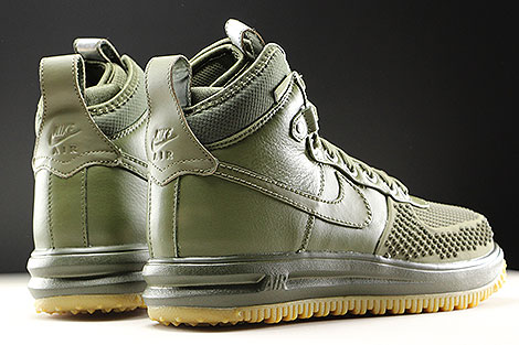 Nike Lunar Force 1 Duckboot Medium Olive Back view