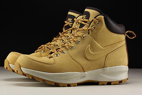 Nike Manoa Leather Hellbraun Braun Beige Seitenansicht