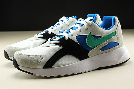 Nike Pantheos Weiss Gruen Blau Schwarz Seitenansicht