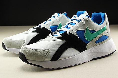 Nike Pantheos Weiss Gruen Blau Schwarz Seitendetail