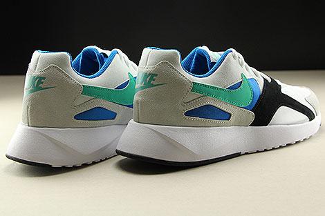 Nike Pantheos Weiss Gruen Blau Schwarz Rueckansicht