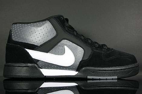 Nike Renzo Mid Black White Dark Grey Right
