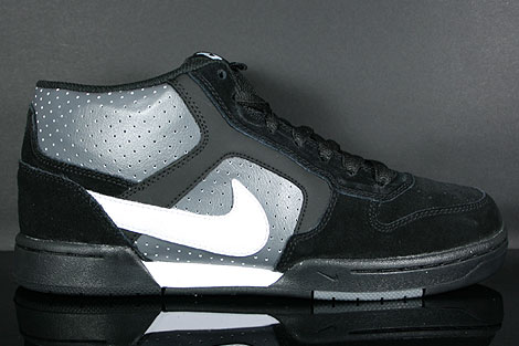 Nike Renzo Mid Black White Dark Grey Profile