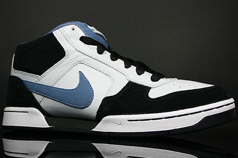 Nike Renzo Mid Blau Weiss Schwarz Seitendetail