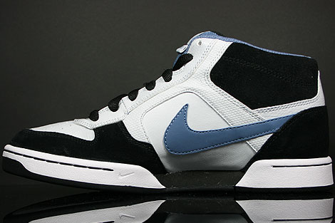 Nike Renzo Mid Platinum Ocean Fog Black White Back view