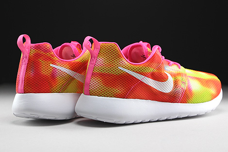 Nike Roshe One Flight Weight GS Gelb Orange Pink Weiss Rueckansicht