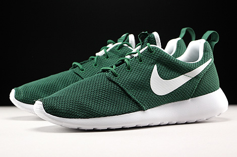 Nike Roshe One Gorge Green White Sidedetails