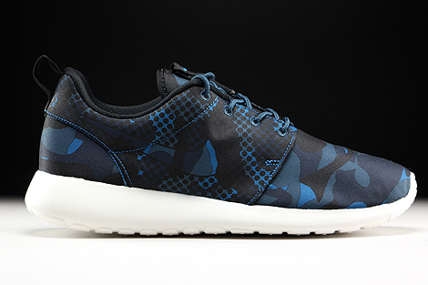 free shipping b1603 5b698 ... Nike Roshe One Print Brigade Blue Black Squadron Blue Obsidian Right ...