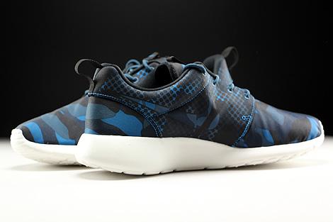 Nike Roshe One Print Dunkelblau Blau Schwarz Creme Innenseite