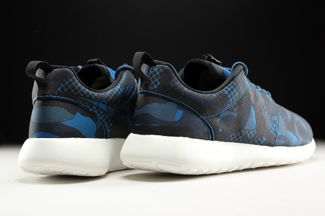 Nike Roshe One Print Brigade Blue Black Squadron Blue Obsidian Back view