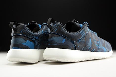 Nike Roshe One Print Dunkelblau Blau Schwarz Creme Rueckansicht