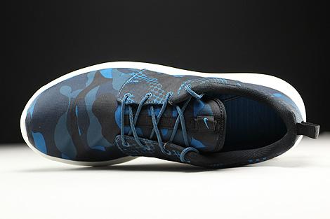 Nike Roshe One Print Dunkelblau Blau Schwarz Creme Oberschuh