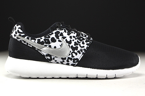 nike roshe one print black\/ metallic\/silver\/white roshe
