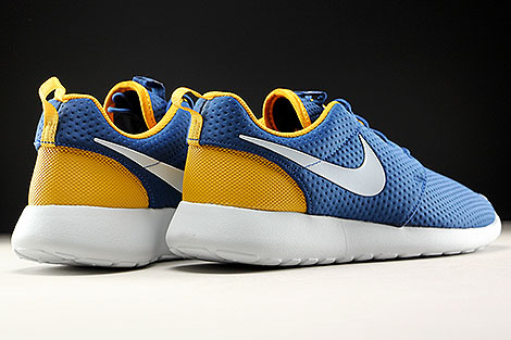 bef3691bb60cb ... Nike Roshe One SE Coastal Blue Pure Platinum Gold Leaf Back view ...