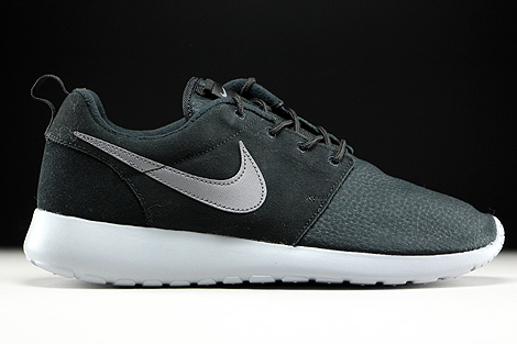 Nike Roshe One Suede Black Metallic Dark Grey Wolf Grey