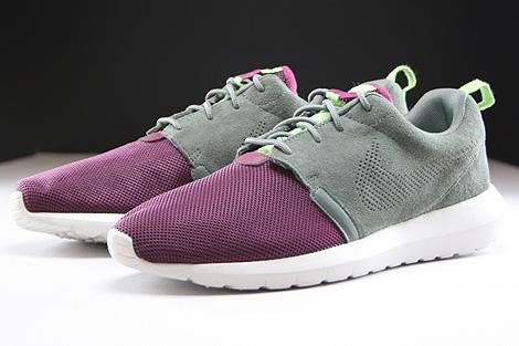 Nike Rosherun NM FB Dunkellila Grau Hellgrau Seitendetail