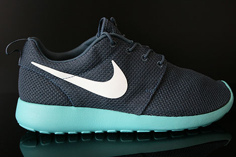 Nike Rosherun Dunkelblau Hellgrau Tuerkis