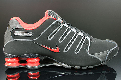 Nike Shox NZ EU Black Sport Red Dark Grey