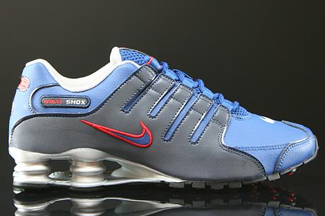 Nike Shox NZ EU Gym Blue Obsidian Metallic Silver