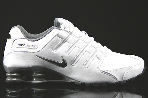 nike shox white and black