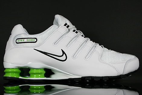 Nike Shox NZ White Black Green
