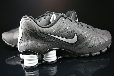 Nike Shox White Black Metallic Silver