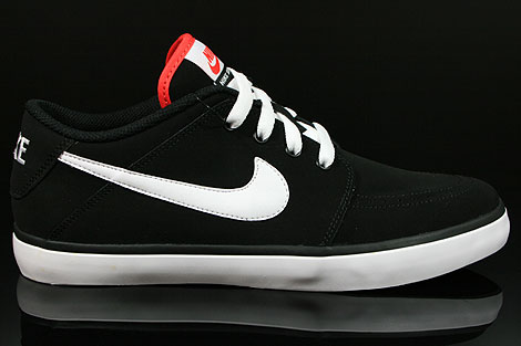Nike Suketo Leather Black White Red