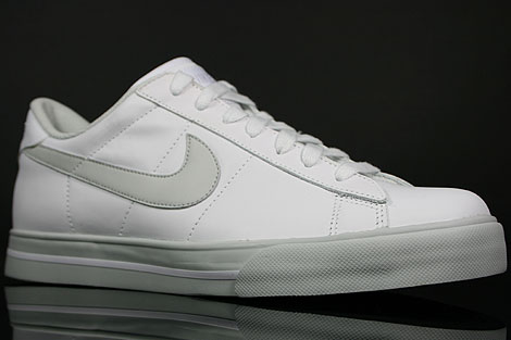 Nike Sweet Classic Leather Weiss Grau Seitendetail
