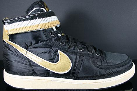 Nike Vandal High Supreme Black Metallic Gold White Profile