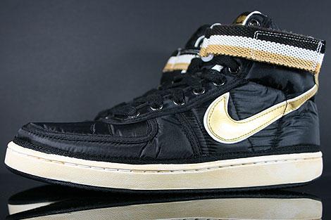 Nike Vandal High Supreme Black Metallic Gold White Sidedetails