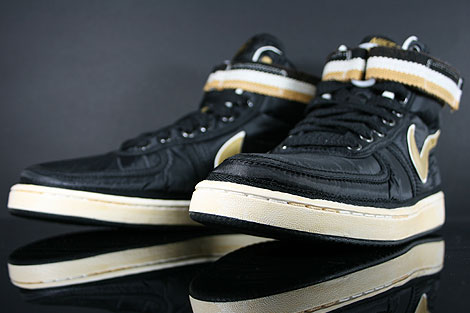 Nike Vandal High Supreme Black Metallic Gold White Inside