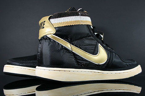 Nike Vandal High Supreme Black Metallic Gold White Back view