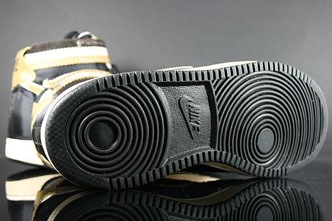 Nike Vandal High Supreme Black Metallic Gold White Shoebox