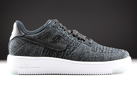 Nike WMNS Air Force 1 Flyknit Low Schwarz Weiss