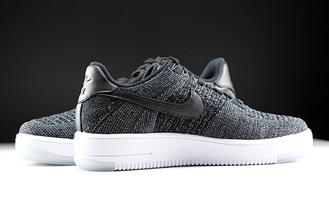 Nike WMNS Air Force 1 Flyknit Low Black White Inside