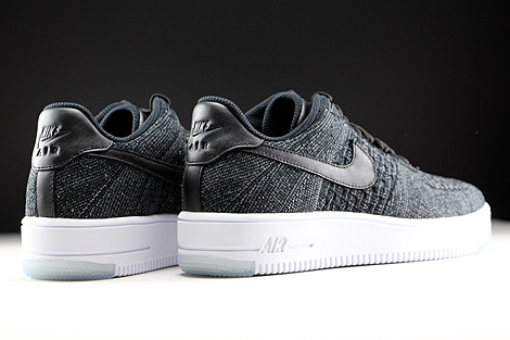 Nike WMNS Air Force 1 Flyknit Low Black White Back view