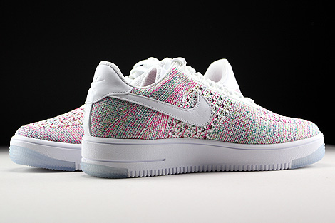 Nike WMNS Air Force 1 Flyknit Low White Radiant Emerald Inside