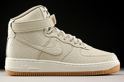 Nike WMNS Air Force 1 High Premium Beige Creme Hellbraun Rechts