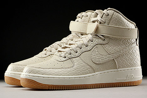 Nike WMNS Air Force 1 High Premium Oatmeal Khaki Sail Profile