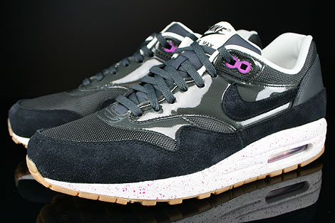 Nike WMNS Air Max 1 Anthracite Black Club Purple Sail Sidedetails