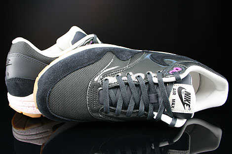 Nike WMNS Air Max 1 Anthracite Black Club Purple Sail Over view