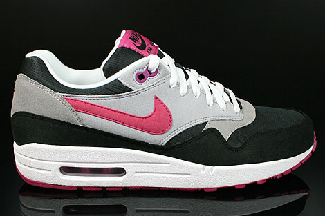 Nike WMNS Air Max 1 Black Rave Pink Wolf Grey