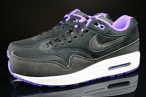 Nike WMNS Air Max 1 Essential Black Black Hyper Grape White Profile