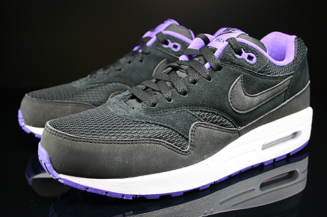 Nike WMNS Air Max 1 Essential Black Black Hyper Grape White Sidedetails